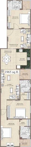 Aashish West End (3BHK+3T (1,965 sq ft) 1965 sq ft)