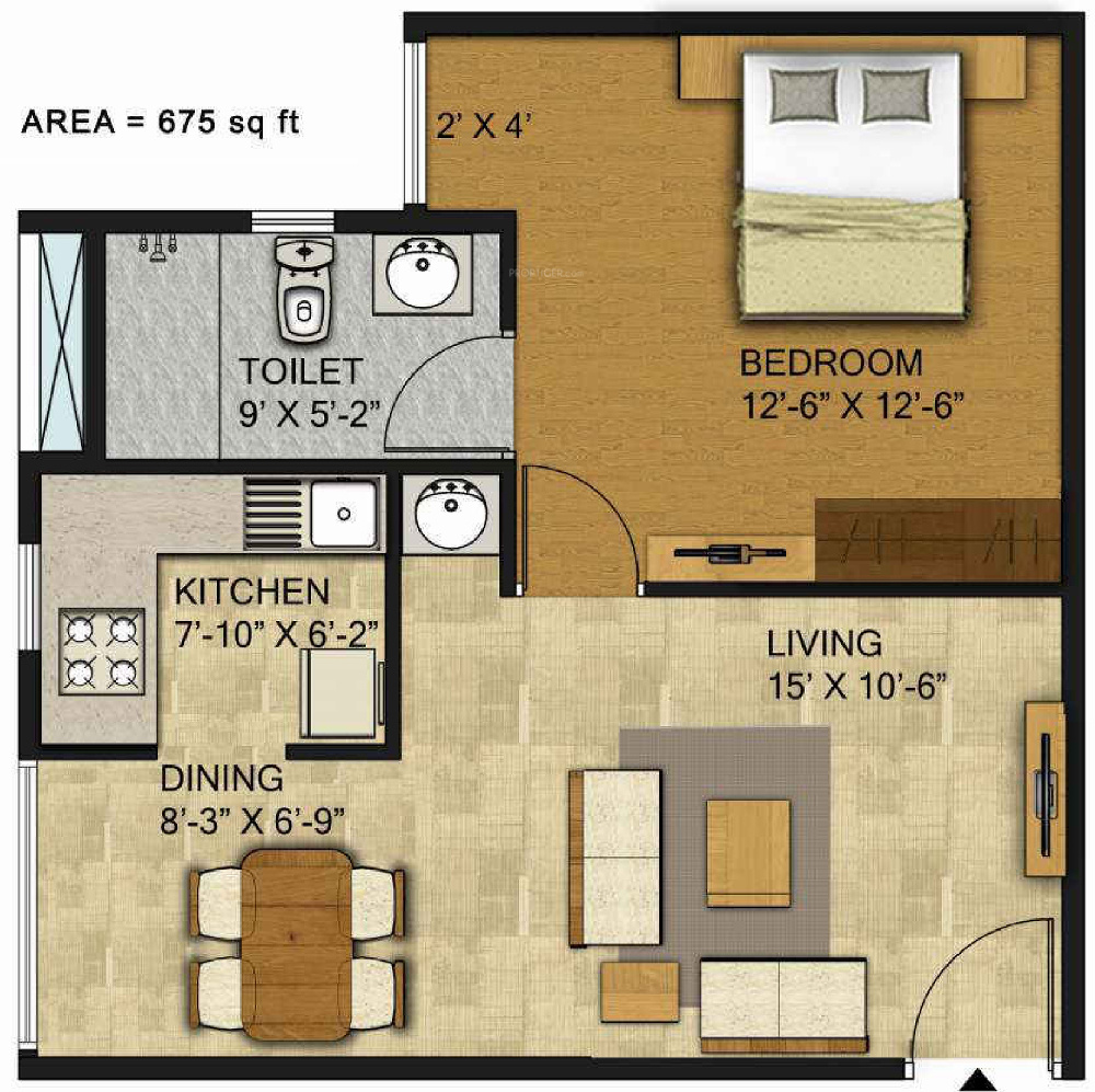 675 sq ft 1 bhk 1t apartment for sale in citrus belmont for 675 sq ft floor plan