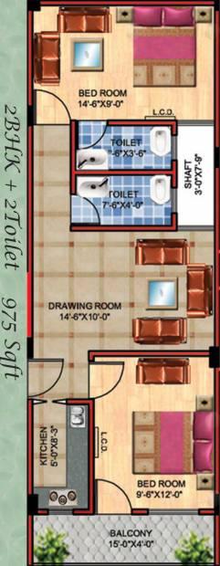 APS APS Royal Homes (2BHK+2T (975 sq ft) 975 sq ft)