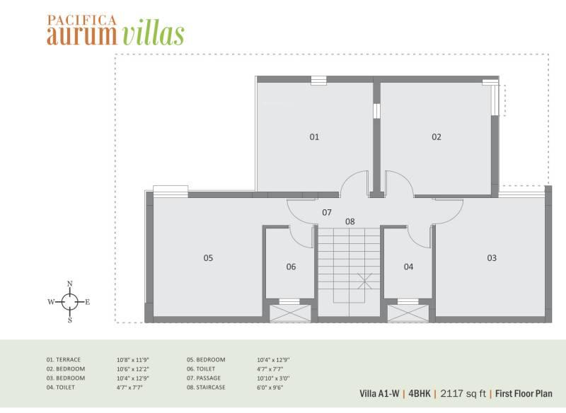 Pacifica Aurum Villas (4BHK+3T (2,117 sq ft) 2117 sq ft)
