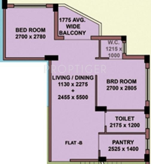 Mayfair Oasis (2BHK+1T (640 sq ft) 640 sq ft)