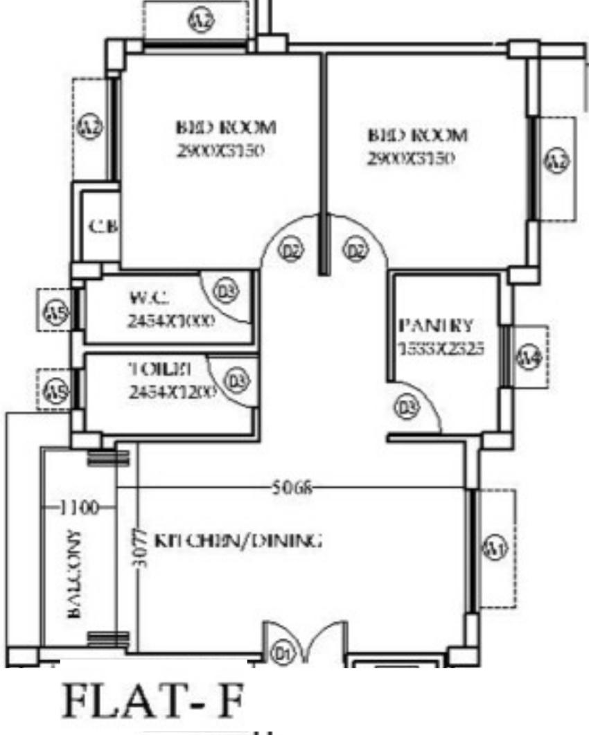 453220050 890 Sq Ft House Plan Modern Style