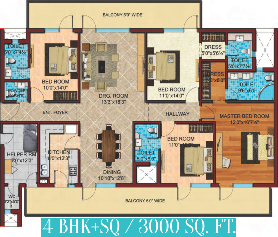 3000 Sq Ft 4 Bhk 5t Apartment For Sale In Cosmos Infra