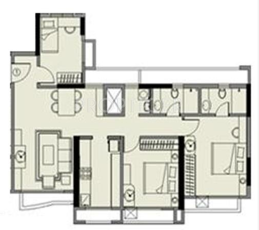 1250 Sq Ft 2 Bhk Floor Plan Image Kalpataru Group