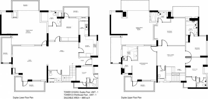 Indiabulls Centrum Park (4BHK+5T (4,885 sq ft) + Servant Room 4885 sq ft)