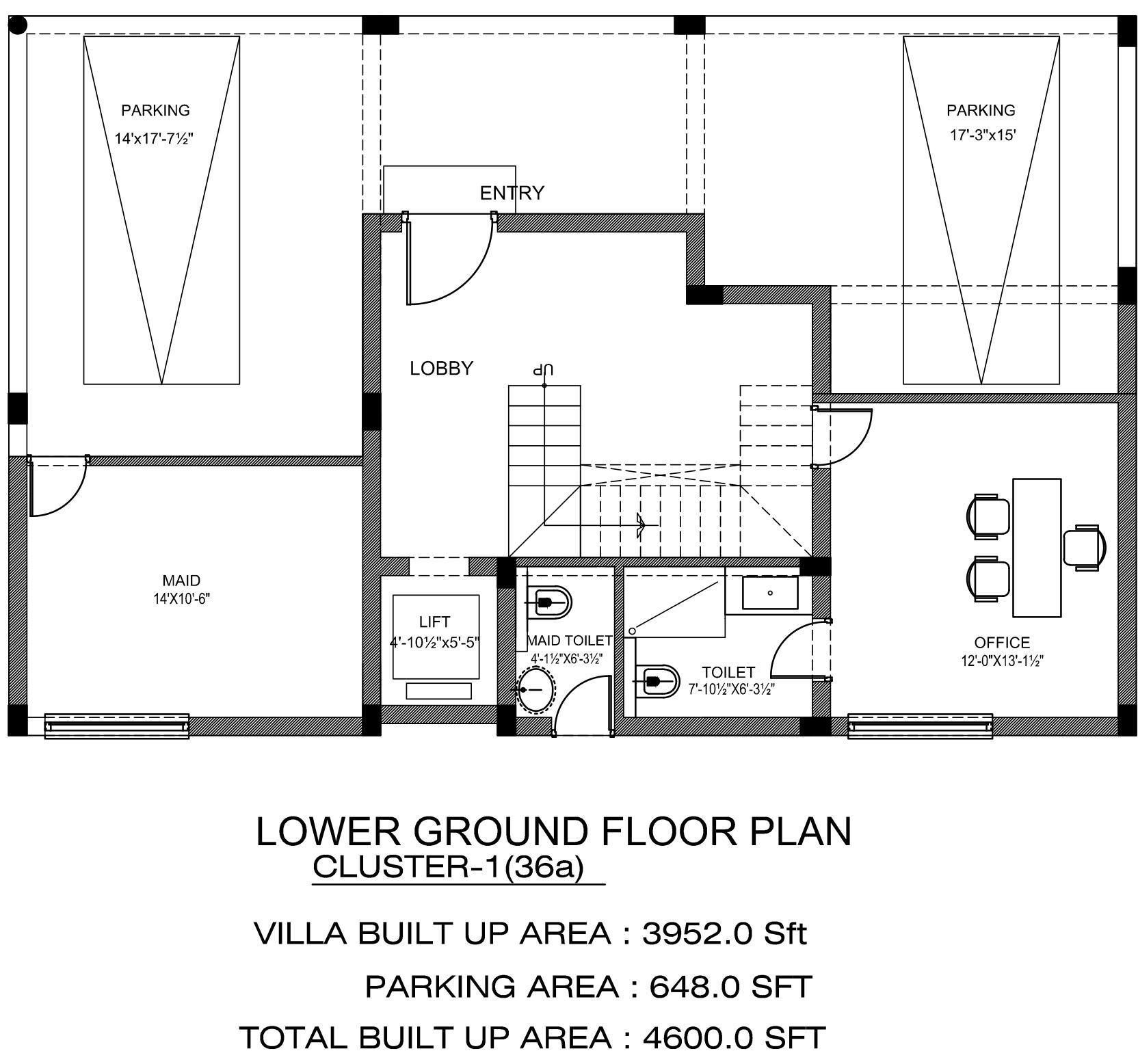 Northstar hillside in gandipet hyderabad price for Hillside floor plans