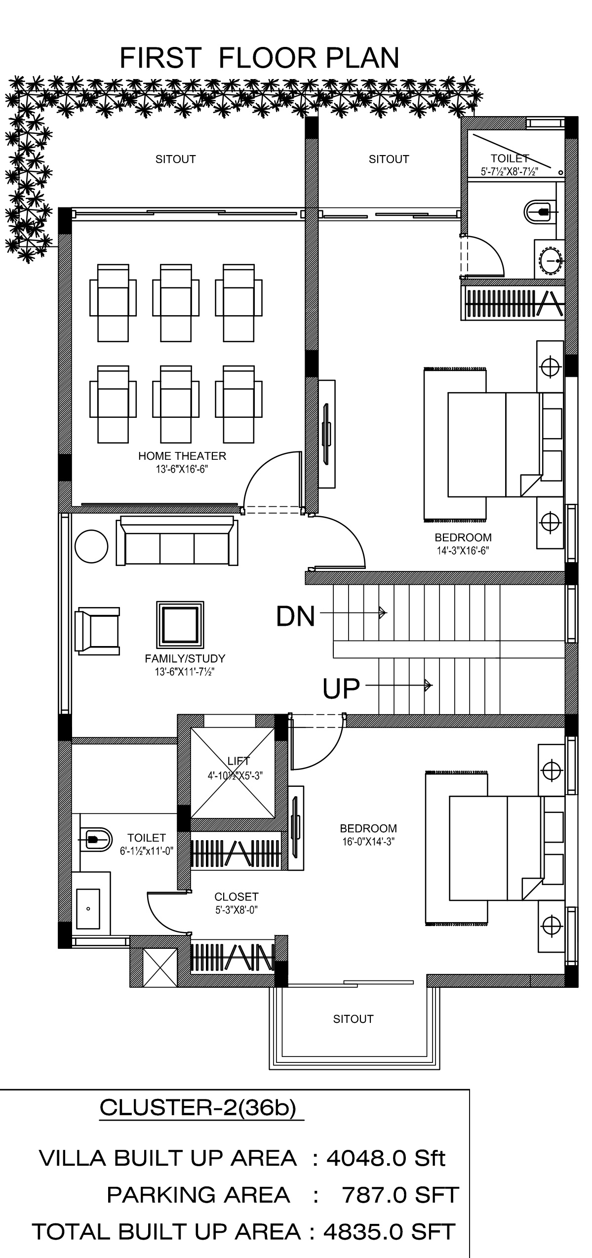 Northstar hillside in gandipet hyderabad price for Hillside home floor plans