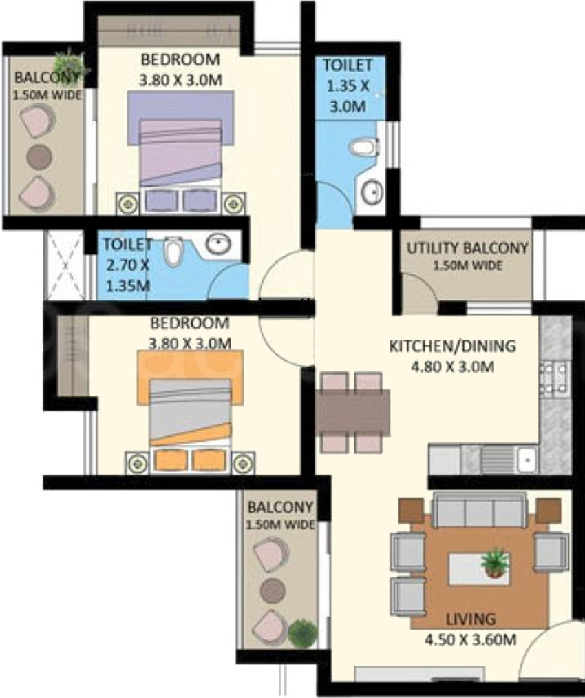 Edcon real estate developers greenfields in santa cruz for Real estate floor plan pricing