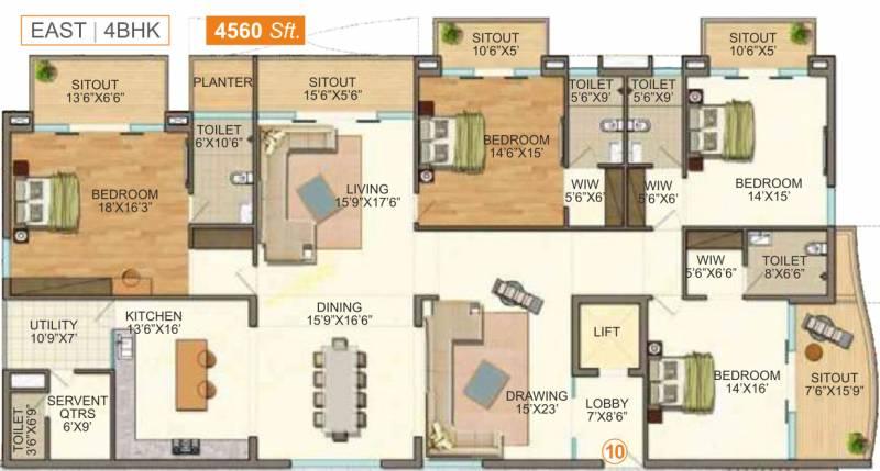4560 Sq Ft 4 Bhk Floor Plan Image Vasavi Group Gp Trends