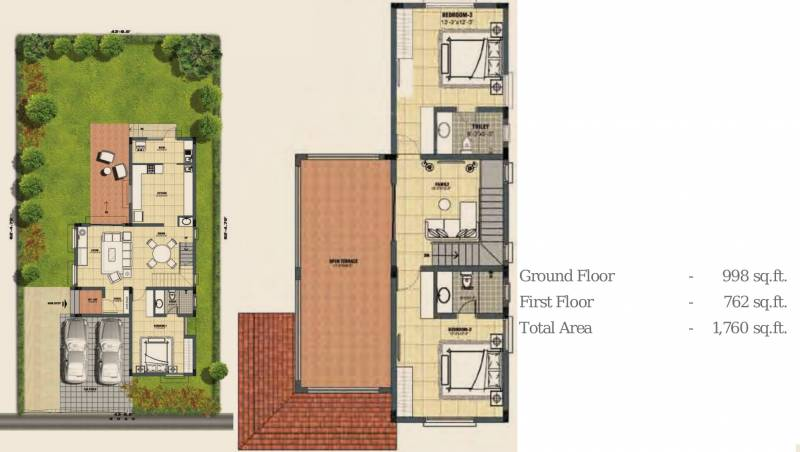 Lancor Town And Country (3BHK+3T (1,760 sq ft) 1760 sq ft)