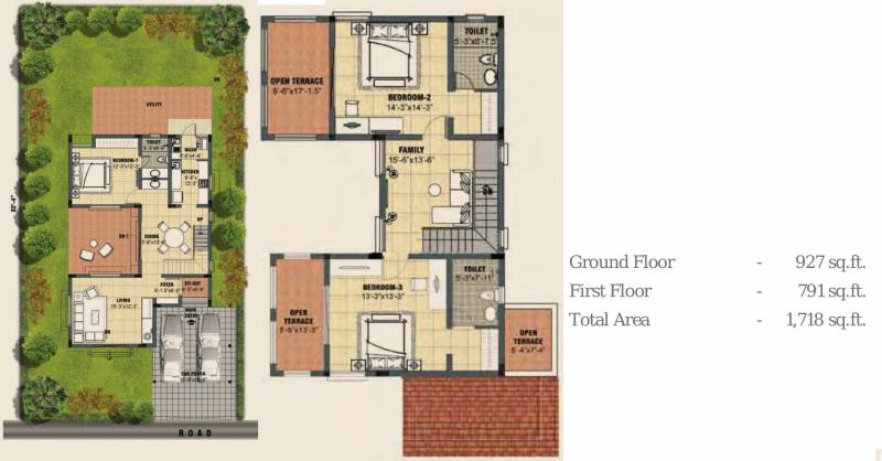 Lancor Town And Country (3BHK+3T (1,718 sq ft) 1718 sq ft)