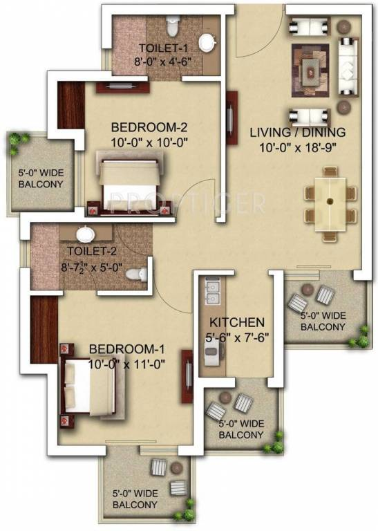 900 Sq Ft 2 Bhk 2t Apartment For Sale In Morpheus Bluebell
