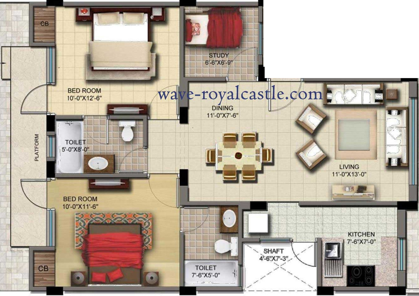 Wave Royal Castle Apartment In Dasna Ghaziabad Price