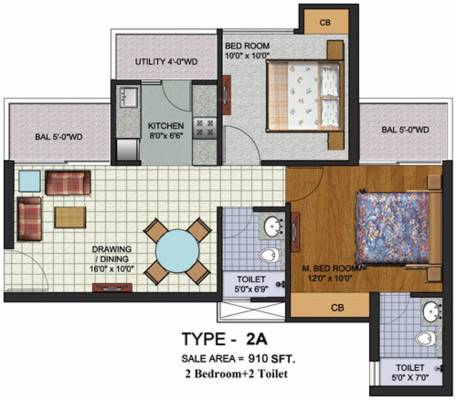 910 sq ft 2 bhk 2t apartment for sale in amrapali augusta for 13th floor augusta tower