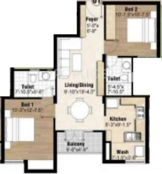 950 sq ft 2 bhk 2t apartment for sale in arihant for 950 sq ft