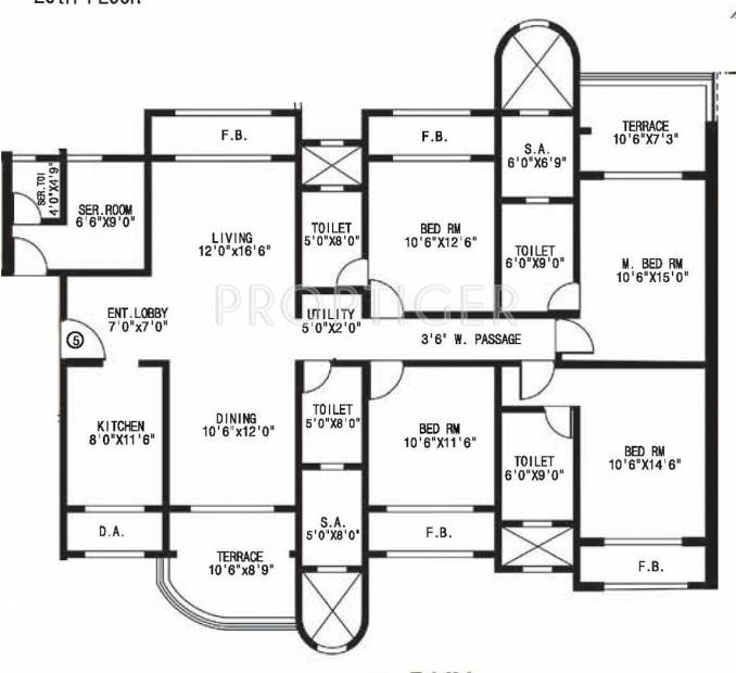 Mohan Altezza (4BHK+4T (2,835 sq ft) 2835 sq ft)