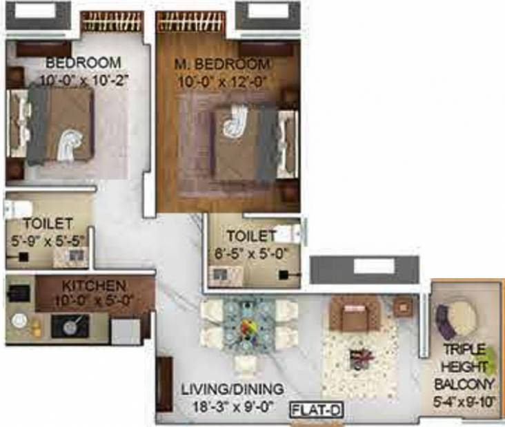 680 sq ft 2 bhk floor plan image merlin group the one for 680 square feet house plan