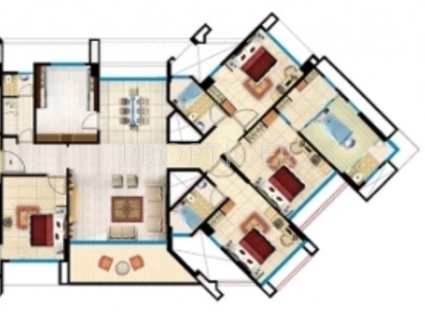 2600 Sq Ft 4 Bhk 4t Apartment For Sale In Kanakia Spaces