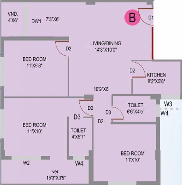 Prakash Builders Shivlok (3BHK+2T (1,114 sq ft) 1114 sq ft)