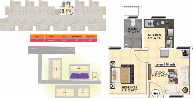 Vijay Raja Ideal Homes (1BHK+1T (378 sq ft) 378 sq ft)