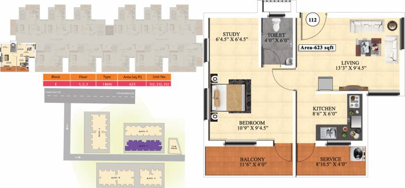 Vijay Raja Ideal Homes (1BHK+1T (623 sq ft) + Study Room 623 sq ft)