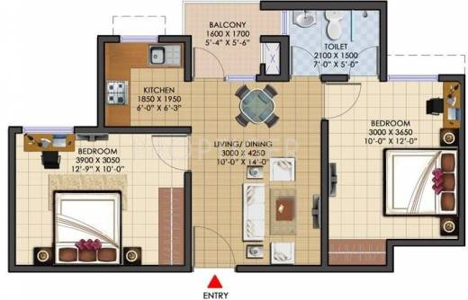 750 Sq Ft 2 Bhk 1t Apartment For Sale In Jaypee Greens