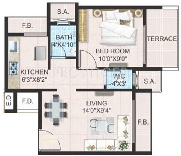 680 sq ft 1 bhk 1t apartment for sale in platinum group for 680 square feet house plan