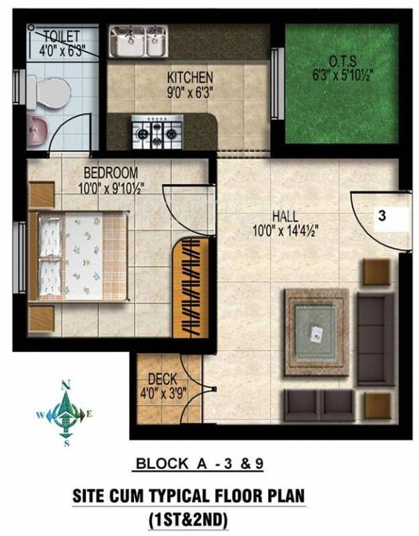 480 Sq Ft 1 Bhk 1t Apartment For Sale In Orchid