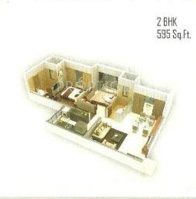 Morya Mandar Avenue F II (2BHK+2T (890 sq ft) 890 sq ft)