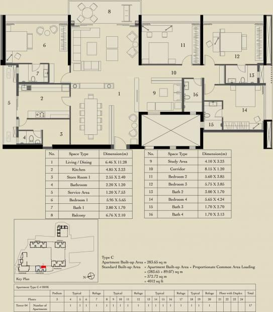 Ambuja Utalika Luxury (4BHK+4T (4,012 sq ft) 4012 sq ft)