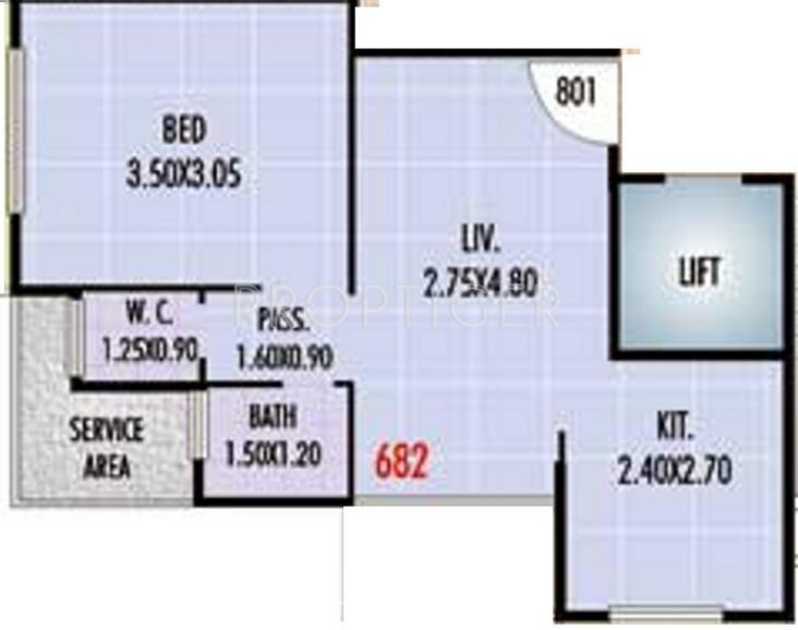680 sq ft 1 bhk 1t apartment for sale in haware engineers for 680 square feet house plan