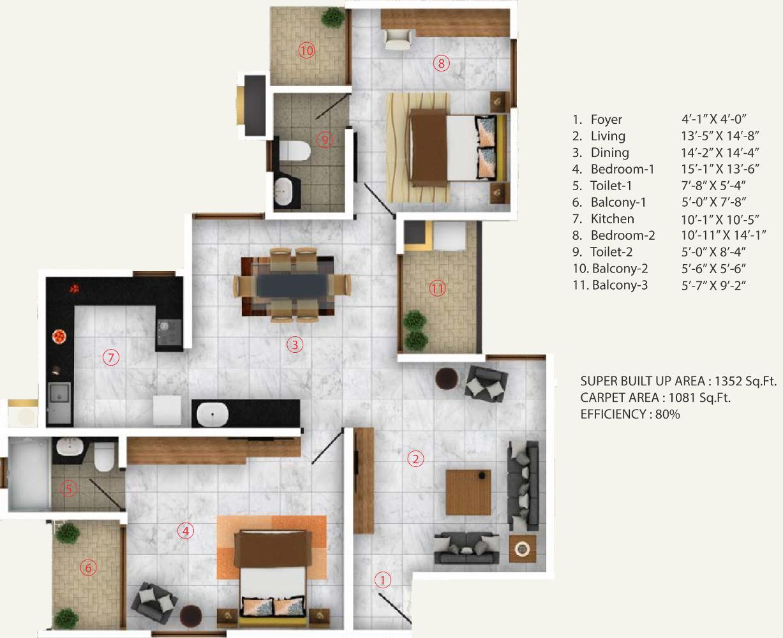 Aratt cityscape apartment in budigere cross bangalore for 12th floor apartments