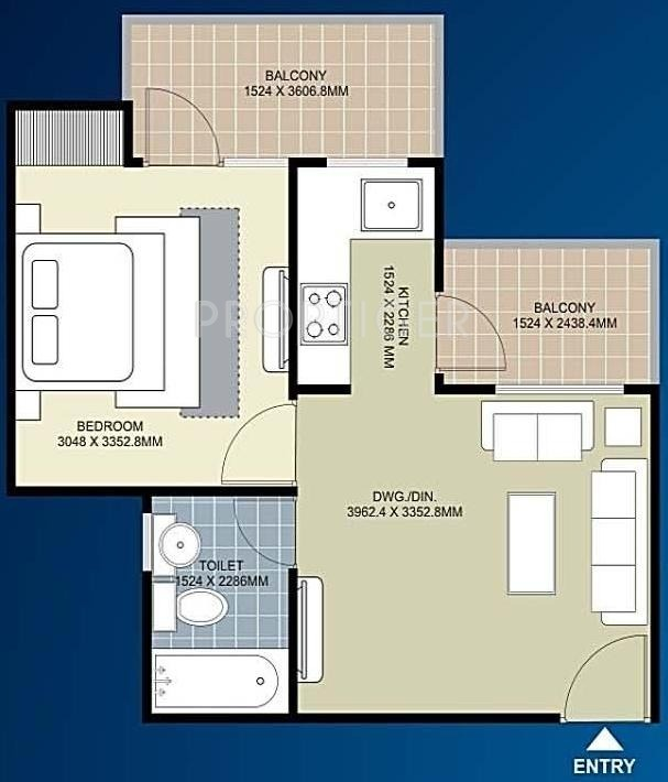 720 sq ft 1 bhk 1t apartment for sale in ecnon group kings for 720 sq ft apartment floor plan