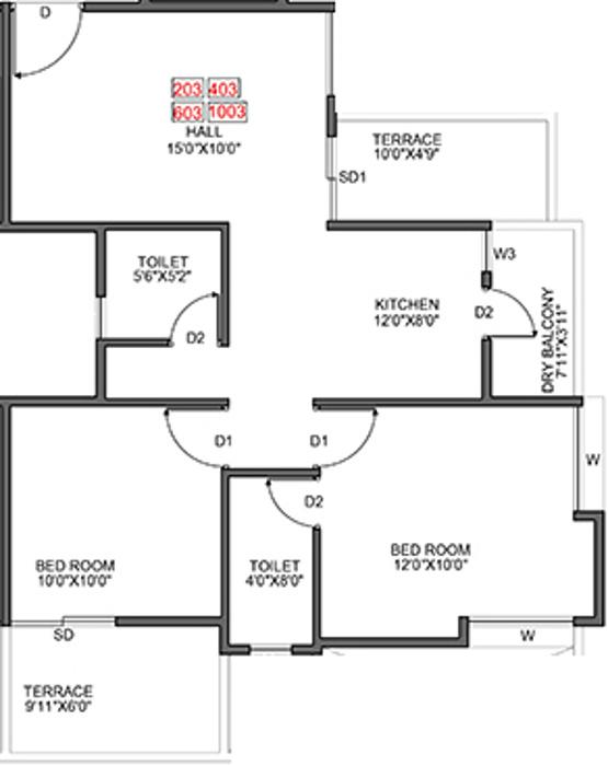 569 sq ft 2 BHK 2T Apartment for Sale in Bright Era
