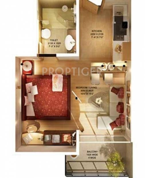 Earth Iconic (1BHK+1T (600 sq ft) 600 sq ft)