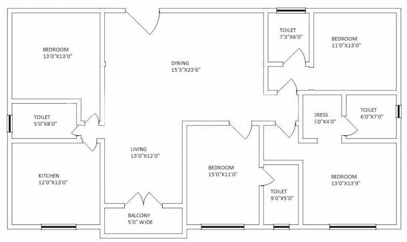 Arch Starwood (4BHK+4T (2,569 sq ft) 2569 sq ft)
