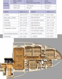 1544 Sq Ft 4 Bhk Floor Plan Image Dosti Group Imperia Dosti Majesta Available For Sale Rs In 2 71 Crore Proptiger Com