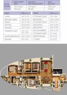 1553 Sq Ft 4 Bhk Floor Plan Image Dosti Group Imperia Dosti Majesta Available For Sale Rs In 2 73 Crore Proptiger Com
