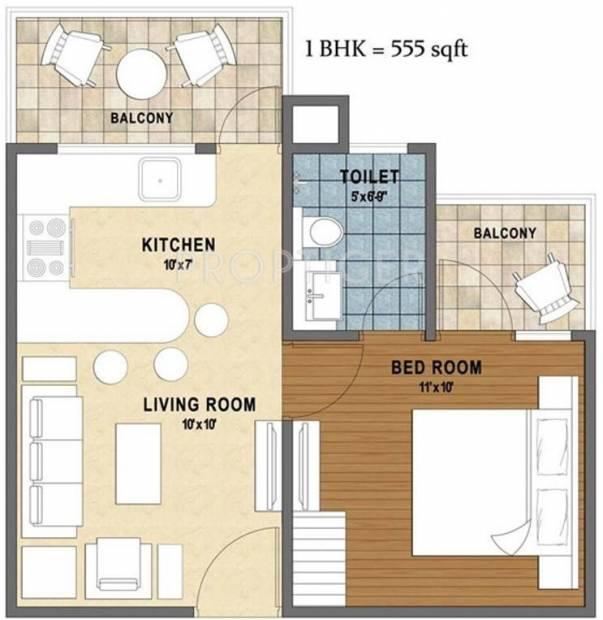 576 sq ft 1 bhk floor plan image shobh infrastructures for 576 sq ft floor plan
