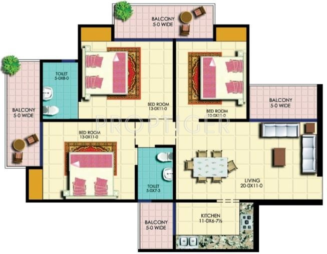 1500 sq ft 3 bhk 2t apartment for sale in amr for 1500 sq ft apartment floor plan