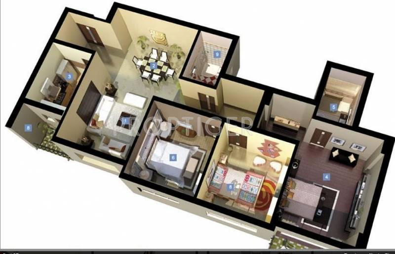 DLF New Town Heights (3BHK+3T (1,468 sq ft) 1468 sq ft)