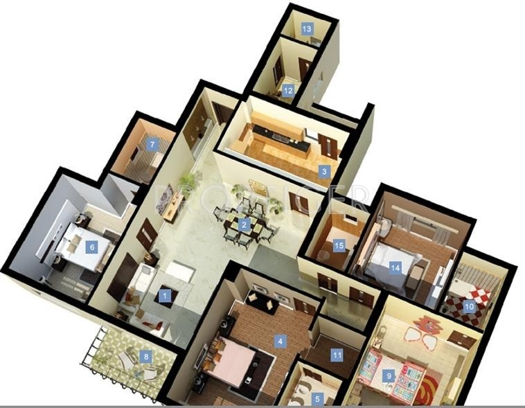 DLF New Town Heights (4BHK+4T (2,393 sq ft) 2393 sq ft)