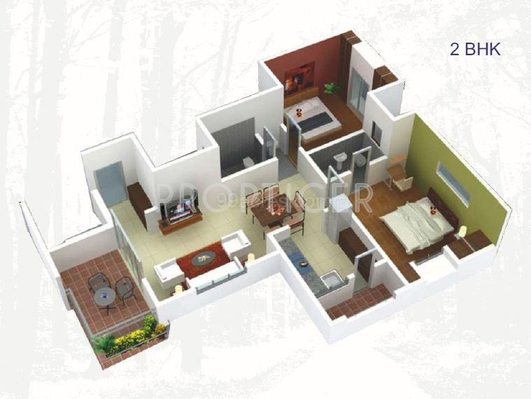 900 sq ft 2 bhk floor plan image miracle mircon for 900 sq ft
