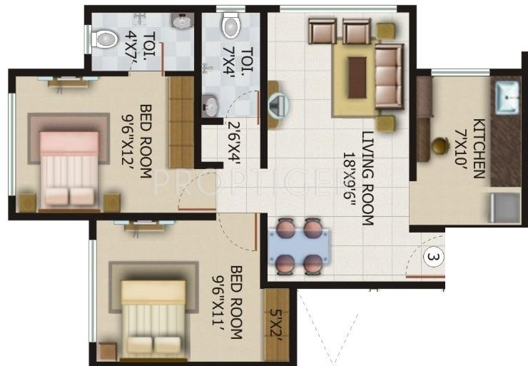 660 sq ft 1 bhk 2t east facing resale apartment on 4th for Bhk laminate flooring