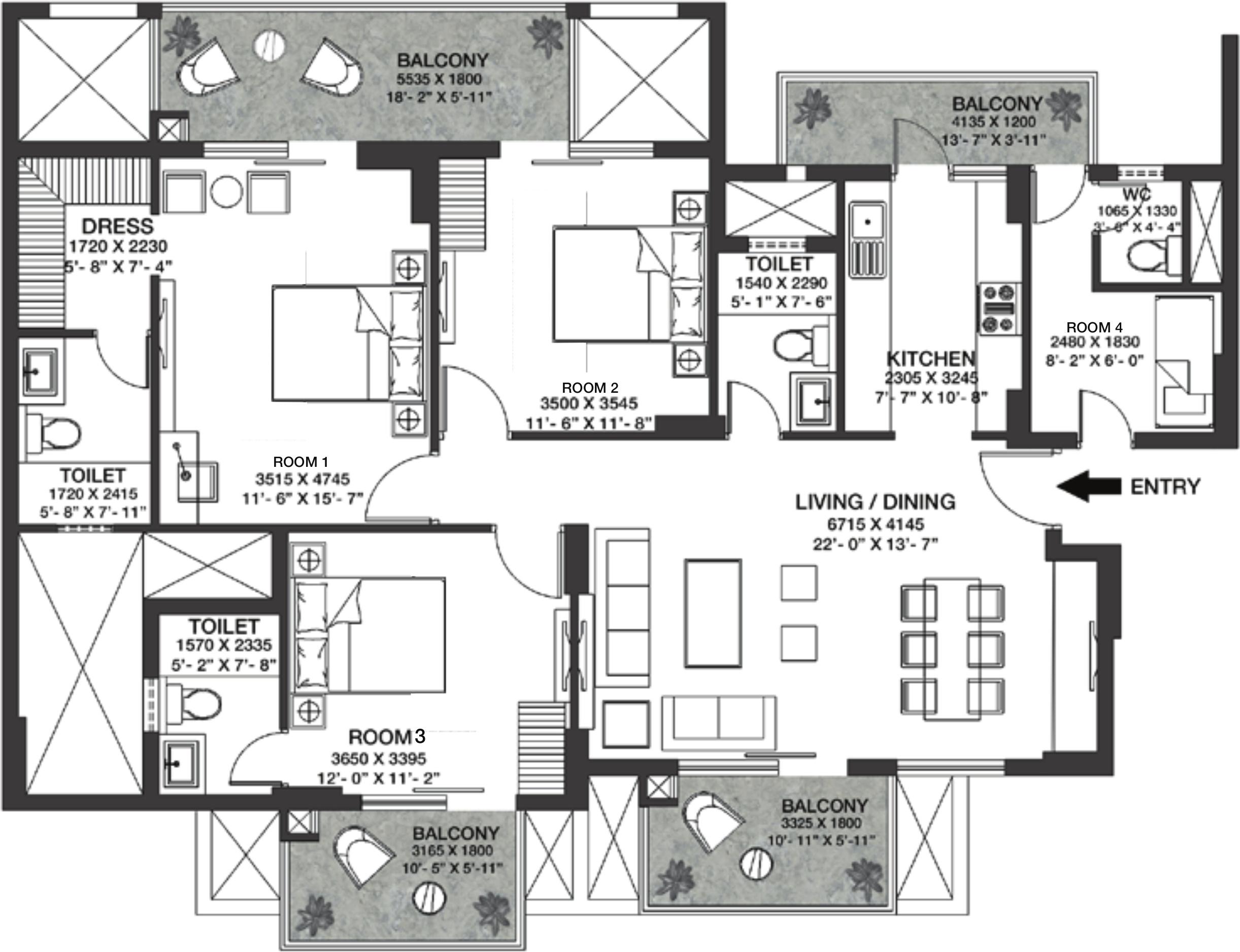 Godrej nature plus in sector 33 sohna gurgaon price for Floor plan plus