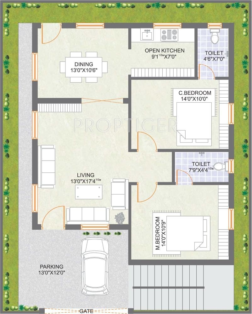 West Facing House Plans For 25x50 Site Home Design 2017