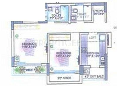 1120 sq ft 2 bhk 2t apartment for sale in lokhandwala for 1120 westchester place floor plan