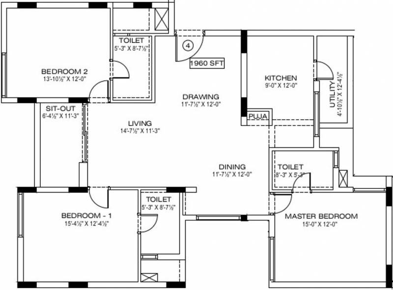 Manbhum Around the Grove (3BHK+3T (1,960 sq ft) + Pooja Room 1960 sq ft)