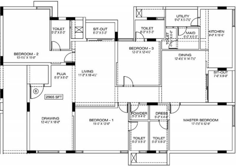 Manbhum Around the Grove (4BHK+5T (2,965 sq ft) + Servant Room 2965 sq ft)