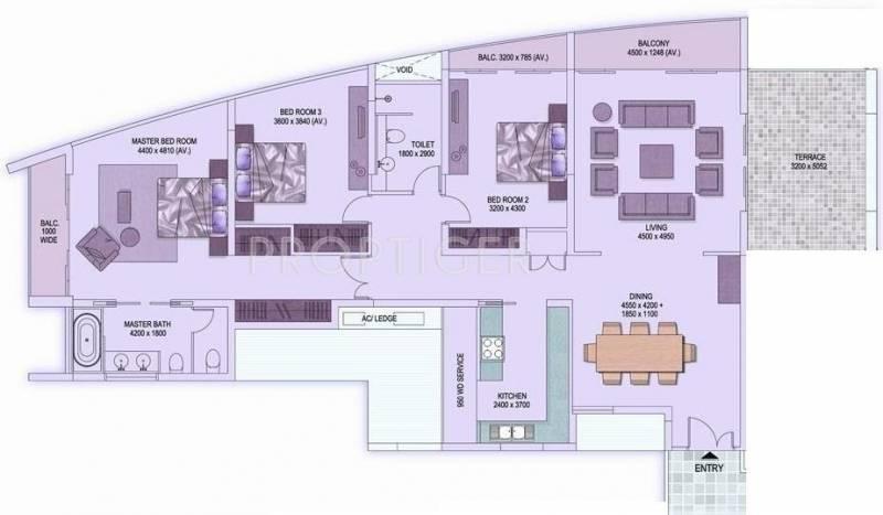 Shrachi Rosedale Garden (3BHK+3T (2,459 sq ft) 2459 sq ft)